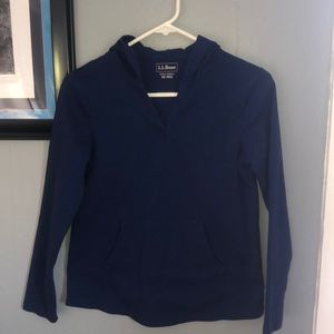 Women's xs llbean hooded tee